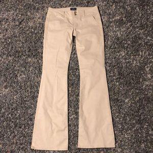 Women's American Eagle khaki bootcut lowrise pants